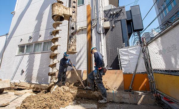 山留め工事のイメージ画像