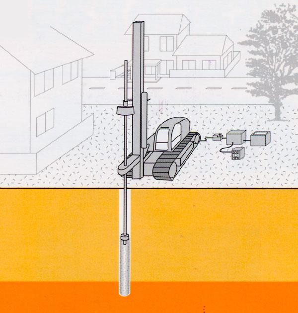 柱状改良工事のイメージ画像