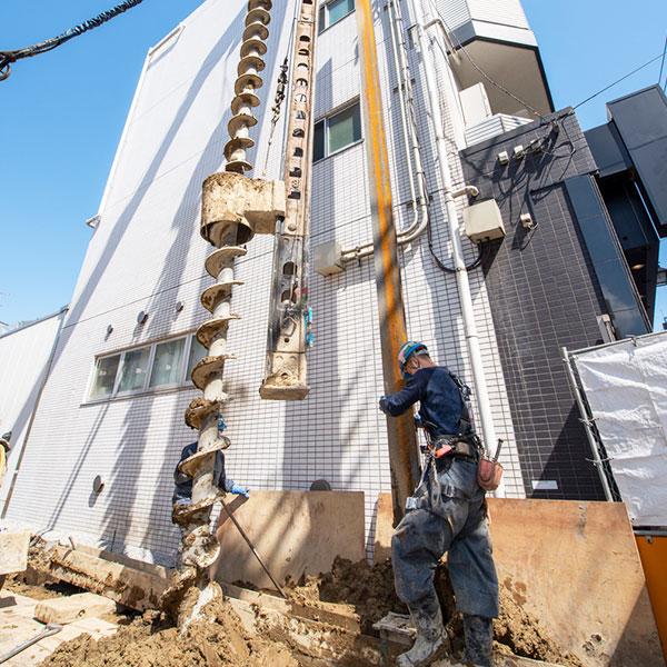 杭打ち工事のイメージ画像